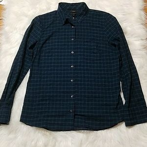 "J. Crew plaid light weight ""boy fit"" button down"